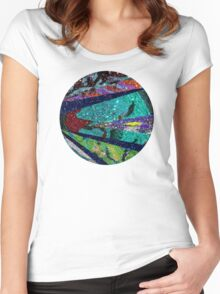 Turquoise Sun Women's Fitted Scoop T-Shirt