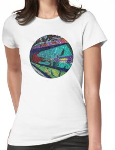 Turquoise Sun Womens Fitted T-Shirt