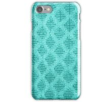 Blue Fabric in a Diamond Pattern - Cases, Pillows and Bags iPhone Case/Skin