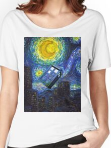 tardis the starry night Women's Relaxed Fit T-Shirt