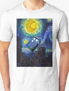 tardis the starry night Unisex T-Shirt