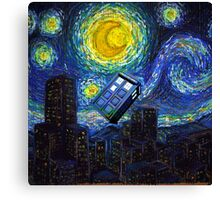 tardis the starry night Canvas Print