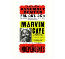 Marvin Gaye Show Poster optimized for white shirts Art Print
