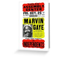 Marvin Gaye Show Poster optimized for white shirts Greeting Card
