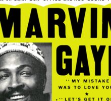Marvin Gaye Show Poster optimized for white shirts Sticker