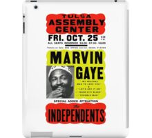 Marvin Gaye Show Poster optimized for white shirts iPad Case/Skin