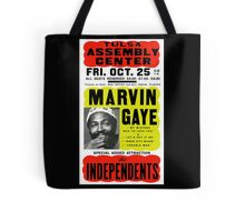 Marvin Gaye Show Poster optimized for white shirts Tote Bag