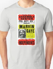 Marvin Gaye Show Poster optimized for white shirts Unisex T-Shirt