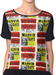 Marvin Gaye Show Poster optimized for white shirts Chiffon Top