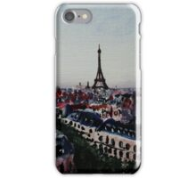 Paris Eiffel Tower French Cityscape Acrylic Painting iPhone Case/Skin