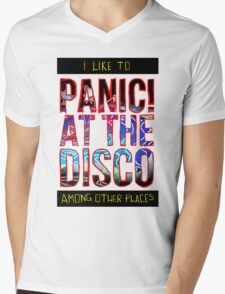 I Like to Panic! at the Disco Among Other Places Mens V-Neck T-Shirt
