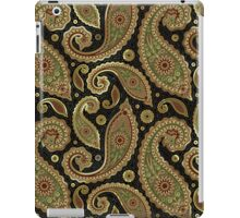 Pastel Brown Tones Vintage Paisley With Touch Of Gold iPad Case/Skin