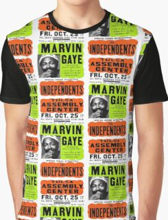 Marvin Gaye Show Poster Optimized for Black Shirt Graphic T-Shirt