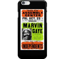 Marvin Gaye Show Poster Optimized for Black Shirt iPhone Case/Skin