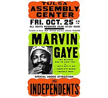 Marvin Gaye Show Poster Optimized for Black Shirt Photographic Print