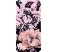 Peach, Lilac, and Black Floral Pattern iPhone Case/Skin