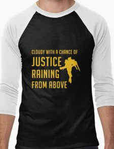 Cloudy with a Chance of Justice Men's Baseball ¾ T-Shirt