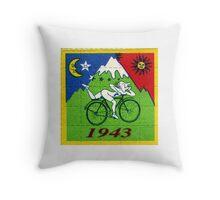 albert hoffman bike 1943 Acid lsd tabs Throw Pillow