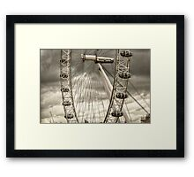 A Closer View of the London Eye Framed Print