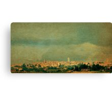 Storm Brewing Over Siena-Tuscany Canvas Print