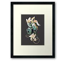 Thumbelina - grey Framed Print