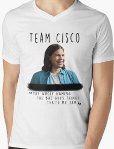 Cisco // The flash  Mens V-Neck T-Shirt