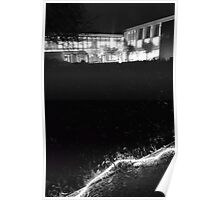 Sainsbury Laboratory at Night Poster