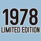 1978 LIMITED EDITION by mcdba