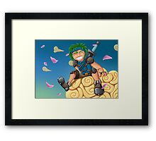 Young Hero Framed Print