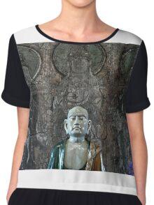 EJK - Monk Statue Chiffon Top