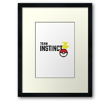 Pokemon Go - Team Instinct Framed Print