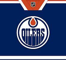 Edmonton Oilers Home Jersey by Russ Jericho