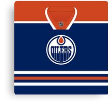 Edmonton Oilers Home Jersey Canvas Print
