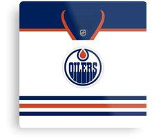 Edmonton Oilers Away Jersey Metal Print