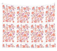 Floral pattern in red, blue and orange Wall Tapestry