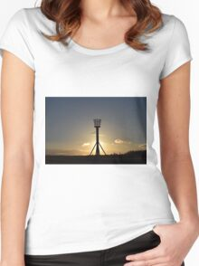 Medieval Fire Basket - Castle Hill Women's Fitted Scoop T-Shirt