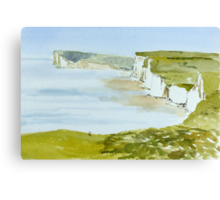 Spring morning, Birling Gap, by Janet Holter Canvas Print