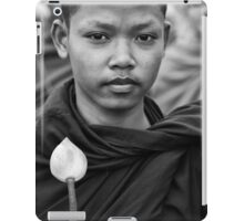 Buddhist Monk and Lotus Flower for Peace in Cambodia iPad Case/Skin