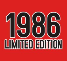 1986 LIMITED EDITION by mcdba