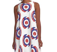Direction Reaction Mod Target design A-Line Dress
