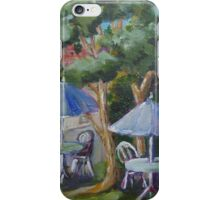 Outdoor cafe in Bloomfield,Ontario iPhone Case/Skin