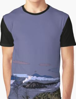 Mountains // Comic Style Graphic T-Shirt