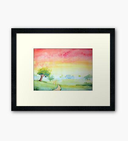 Rosy Sunset Framed Print