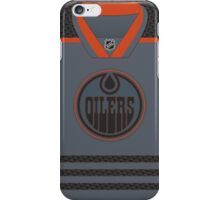 Edmonton Oilers Storm Cross Check Jersey iPhone Case/Skin
