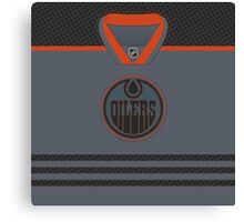 Edmonton Oilers Storm Cross Check Jersey Canvas Print