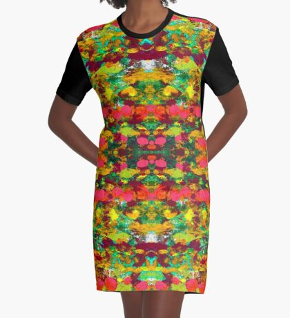 Green Garden Graphic T-Shirt Dress