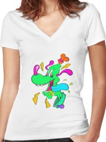 Goofto Women's Fitted V-Neck T-Shirt