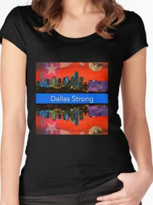 Dallas Strong - Sunset Dallas Skyline Women's Fitted Scoop T-Shirt