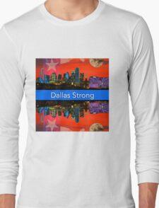 Dallas Strong - Sunset Dallas Skyline Long Sleeve T-Shirt