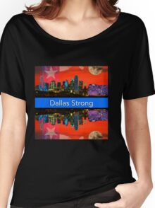 Dallas Strong - Sunset Dallas Skyline Women's Relaxed Fit T-Shirt
